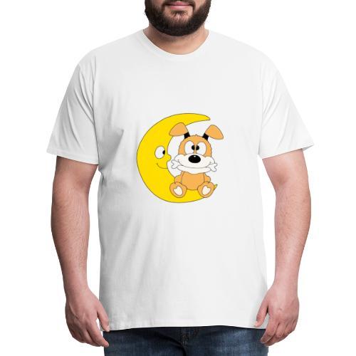 Lustiger Hund - Dog - Knochen - Mond - Tier - Männer Premium T-Shirt