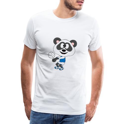Lustiger Panda - Bär - Volleyball - Sport - Fun - Männer Premium T-Shirt