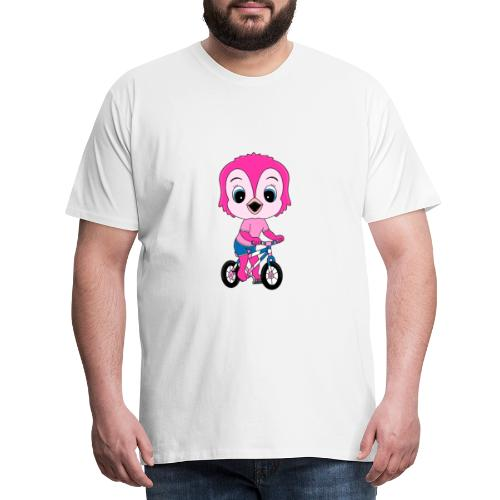 Lustige Eule - Fahrrad - Sport - Kind - Baby - Männer Premium T-Shirt