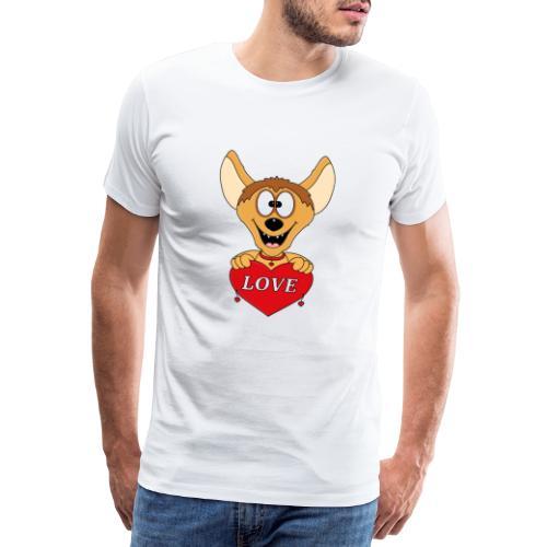 Lustige Hyäne - Herz - Liebe - Love - Tier - Fun - Männer Premium T-Shirt