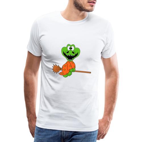 Lustiges Krokodil - Hexe - Kind - Baby - Fun - Männer Premium T-Shirt