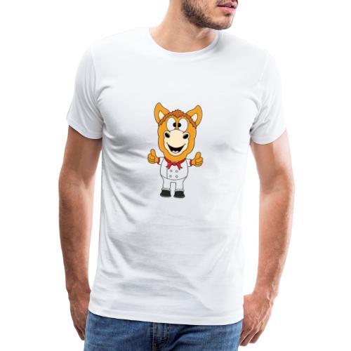 Lustiges Pferd - Pony - Bäcker - Koch - Fun - Männer Premium T-Shirt