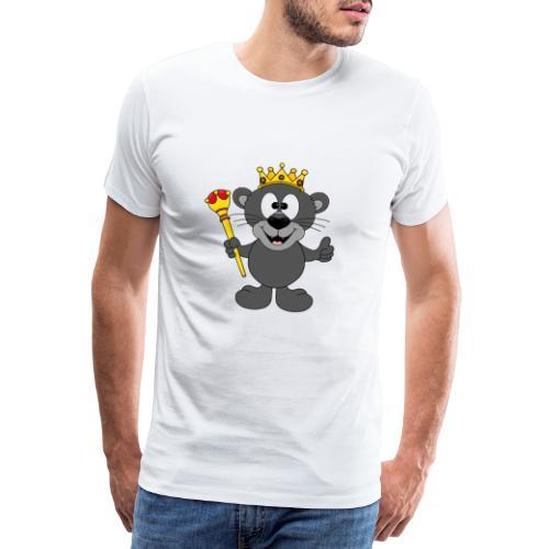 Lustiger Panther - König - Königin - Tier - Kind - Männer Premium T-Shirt