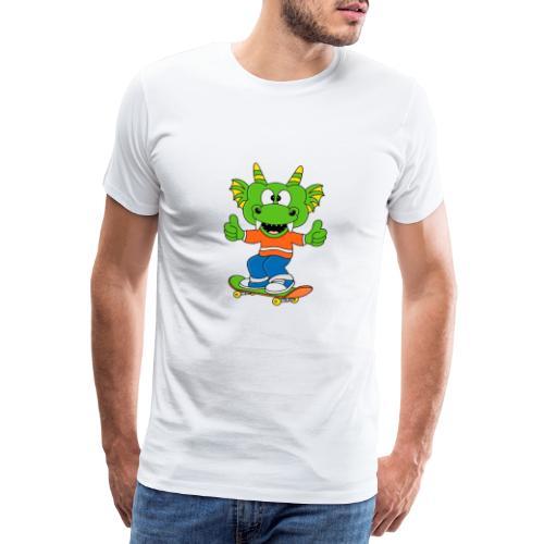 Lustiger Drache - Dragon - Skateboard - Sport - Männer Premium T-Shirt