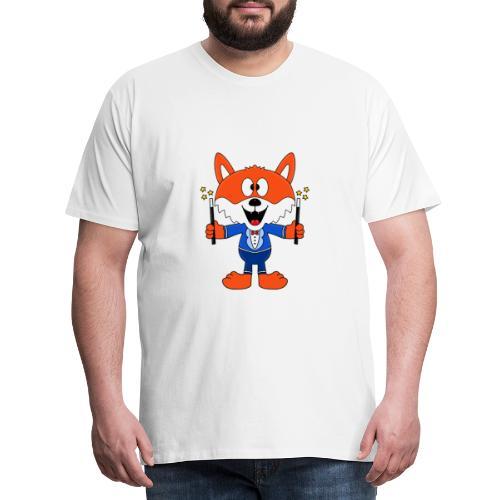 Lustiger Fuchs - Zauberer - Magier - Magie - Fun - Männer Premium T-Shirt