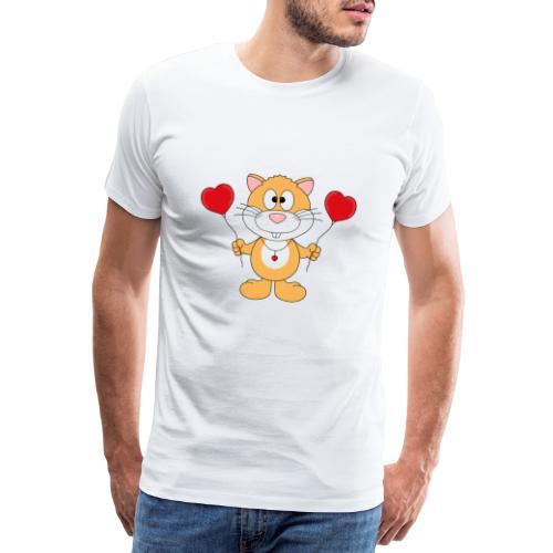 Lustiger Hamster - Herzen - Luftballons - Liebe - Männer Premium T-Shirt