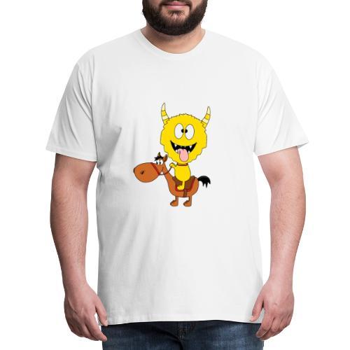 Monster - Pferd - Reiten - Pony - Kind - Baby - Männer Premium T-Shirt