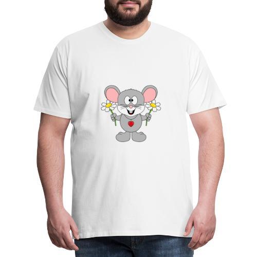 Maus - Blumen - Garten - Gärtner - Liebe - Love - Männer Premium T-Shirt