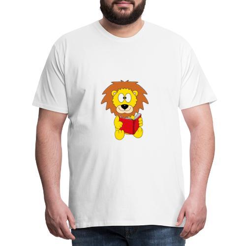 Löwe - Buch - Lesen - Geschichte - Kind - Tier - Männer Premium T-Shirt