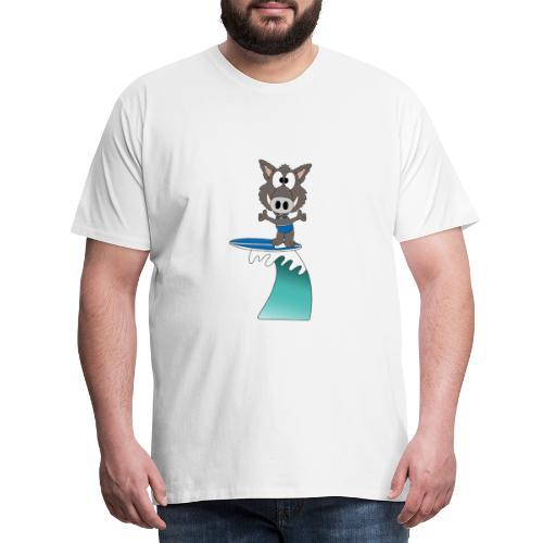 Wildschwein - Welle - Surfer - Wellenreiter - Männer Premium T-Shirt