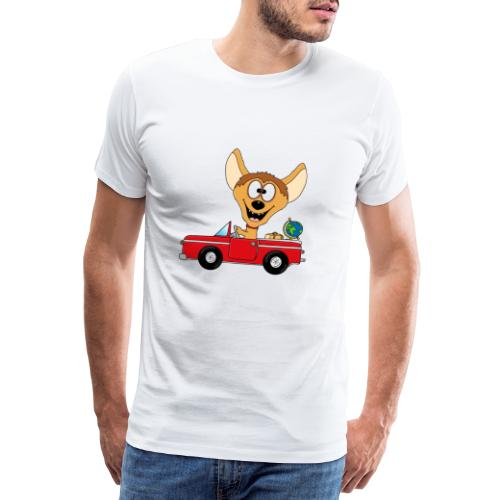 Hyäne - Auto - Reise - Urlaub - Tierisch - Fun - Männer Premium T-Shirt