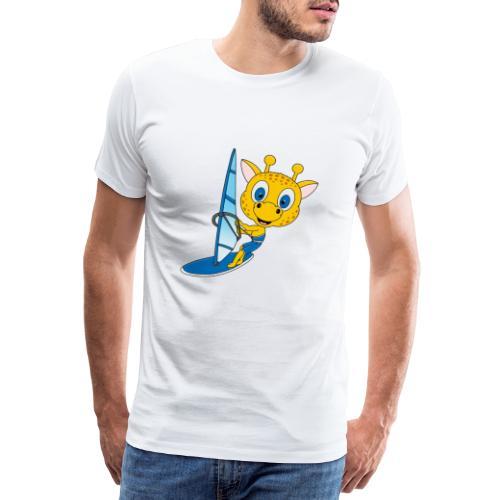 Giraffe - Surfer - Windsurfer - Wassersport - Männer Premium T-Shirt