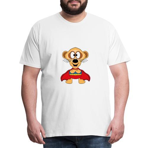 Erdmännchen - Superheld - Kind - Baby - Tier - Männer Premium T-Shirt