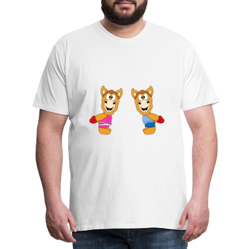 Pferde - Ponys - Reiten - Herzen - Liebe - Love - Männer Premium T-Shirt