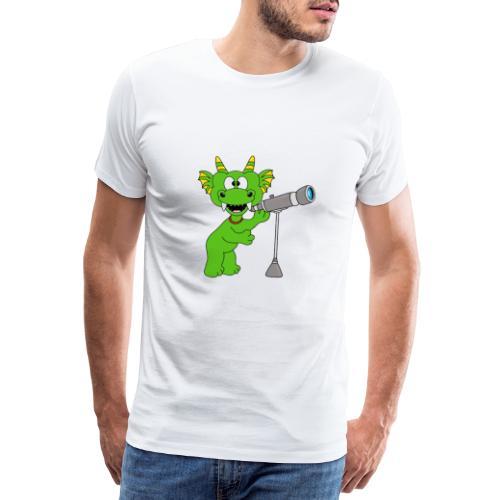 Drache - Teleskop - Astronom - Sterne - Kinder - Männer Premium T-Shirt
