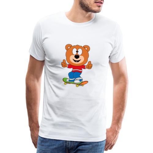 Teddy - Bär - Skateboard - Sport - Kind - Baby - Männer Premium T-Shirt