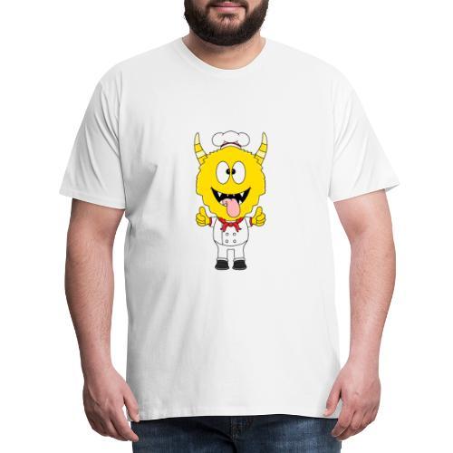 Monster - Koch - Bäcker - Beruf - Kind - Baby - Männer Premium T-Shirt