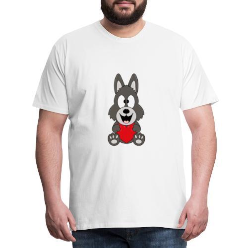 Wolf - Herz - Liebe - Love - Tier - Kind - Baby - Männer Premium T-Shirt