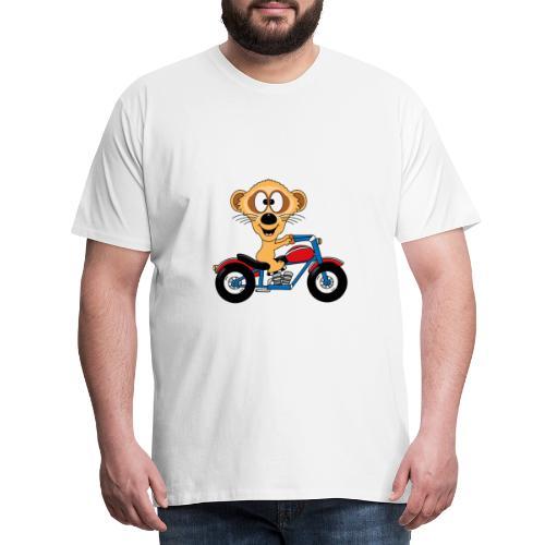 Erdmännchen - Motorrad - Biker - Kind - Baby - Männer Premium T-Shirt