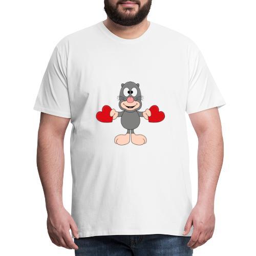 Maulwurf - Herzen - Liebe - Love - Kind - Tier - Männer Premium T-Shirt
