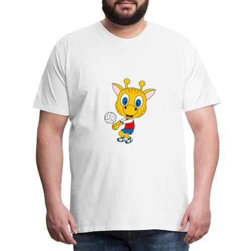 Giraffe - Volleyball - Sport - Tier - Kind - Baby - Männer Premium T-Shirt