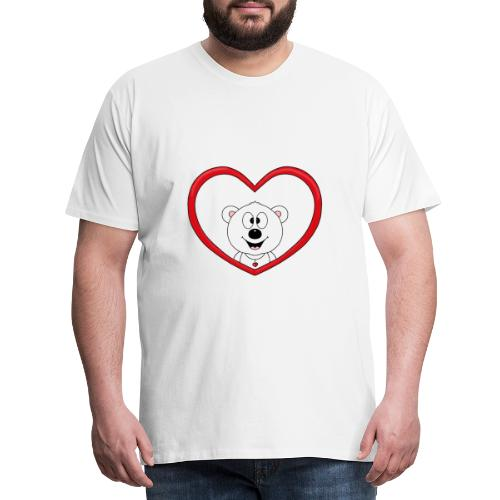 Eisbär - Bär - Teddy - Herz - Liebe - Love - Fun - Männer Premium T-Shirt