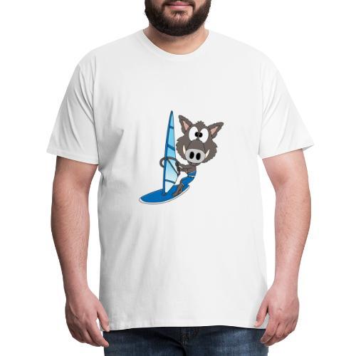 Wildschwein - Surfer - Windsurfer - Sport - Männer Premium T-Shirt