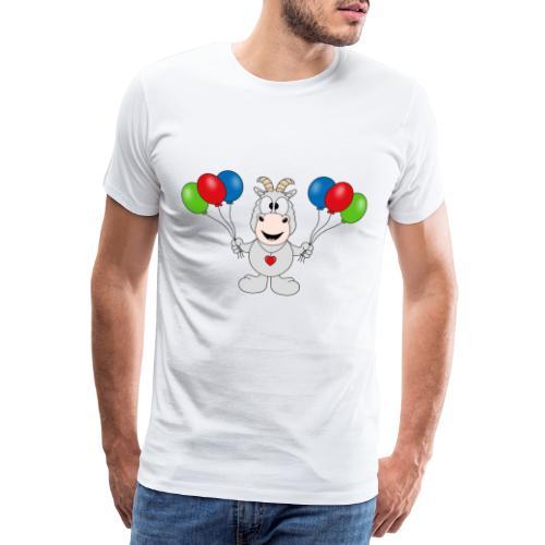 Ziege - Luftballons - Geburtstag - Party - Tier - Männer Premium T-Shirt