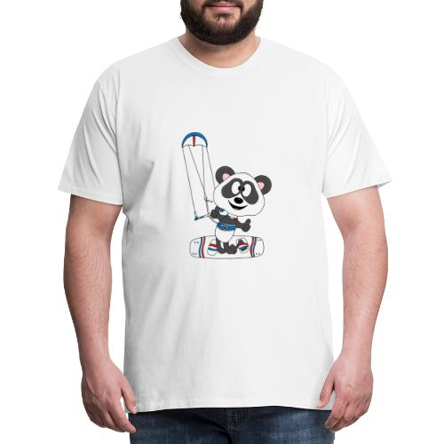 Panda - Bär - Kite - Kitesurfer - Kitesurfen - Fun - Männer Premium T-Shirt