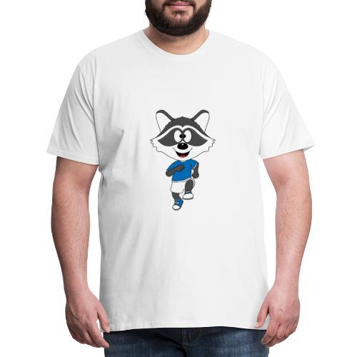Waschbär - Joggen - Laufen - Sport - Tier - Männer Premium T-Shirt