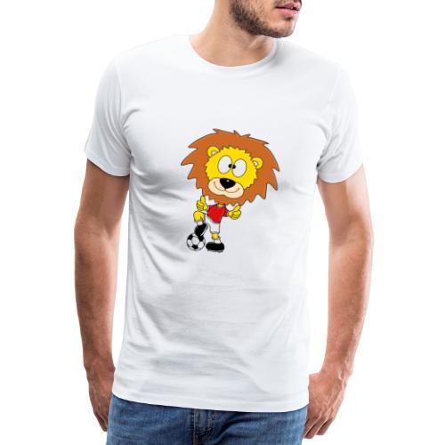Löwe - Fußball - Kind - Sport - Baby - Tier - Fun - Männer Premium T-Shirt