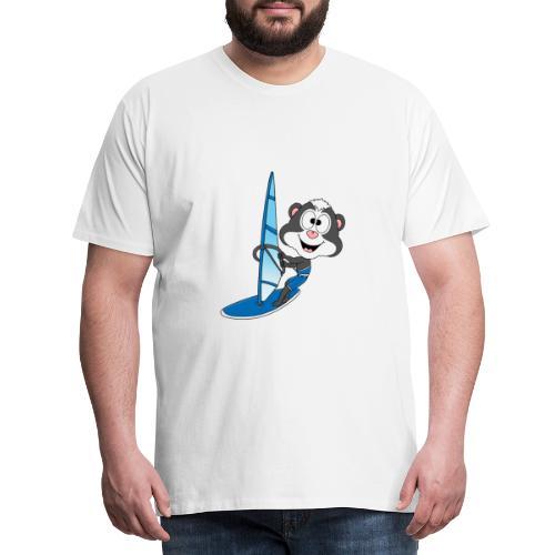 Stinktier - Surfer - Windsurfer - Wassersport - Männer Premium T-Shirt