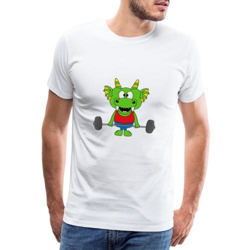 Drache - Dragon - Fitness - Gewichtheber - Sport - Männer Premium T-Shirt