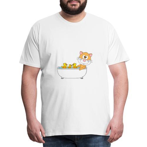 Hamster - Badewanne - Kind - Baby - Tier - Fun - Männer Premium T-Shirt