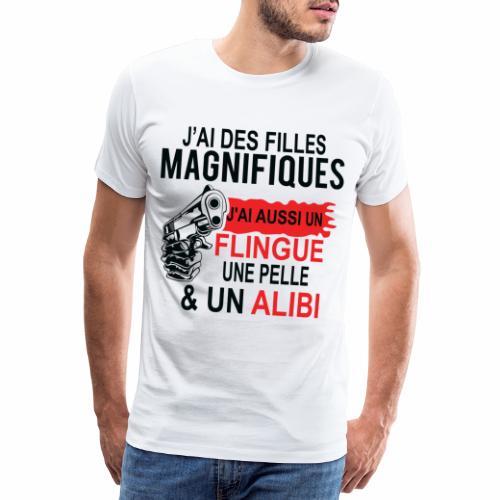 J'AI DEUX FILLES MAGNIFIQUES Best t-shirts 25% - T-shirt Premium Homme