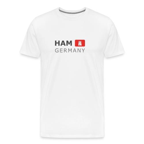 HAM GERMANY HHF dark-lettered 400 dpi - Men's Premium T-Shirt