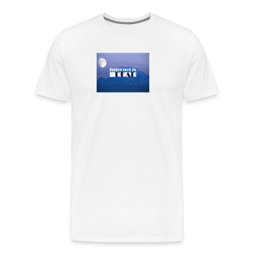 Internet is dead mountain - T-shirt Premium Homme
