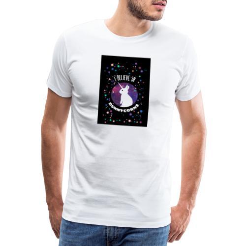 I believe in bunnycorns Einhorn Hasen Kaninchen - Männer Premium T-Shirt