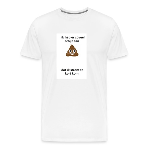 Ik heb er schijt aan - Mannen Premium T-shirt