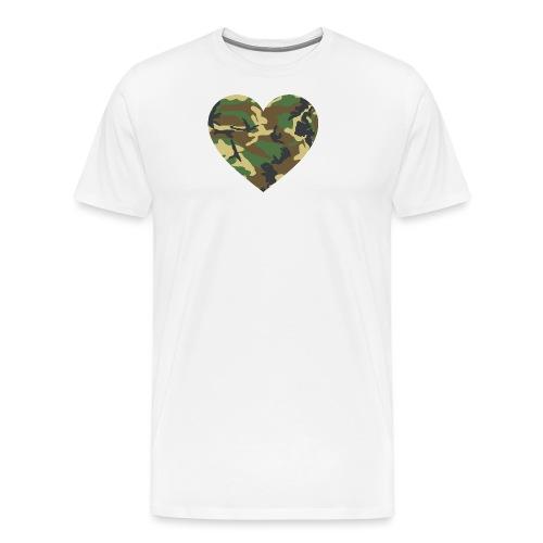 Camo Heart - Männer Premium T-Shirt