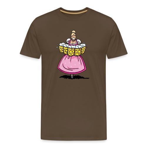 Pink Oktoberfest Beer Waitress - Männer Premium T-Shirt