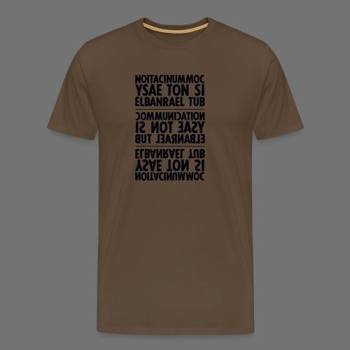 viestintä musta sixnineline - Miesten premium t-paita