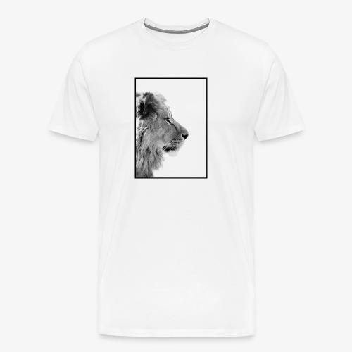 Beeindruckendes schwarz-weiß Löwe - Männer Premium T-Shirt