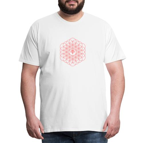 Blume des Lebens Pink - Männer Premium T-Shirt
