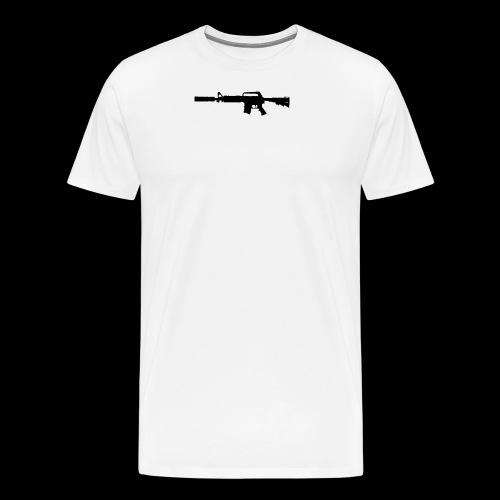 VanityDesigns Black M4 - Herre premium T-shirt