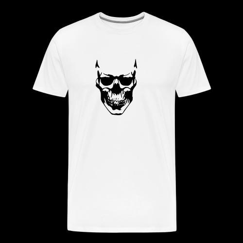 Skellet Kopf - Männer Premium T-Shirt