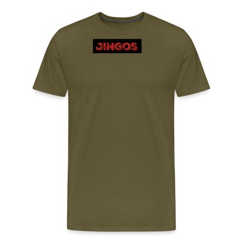 Jingos tee - Black on white - Herre premium T-shirt
