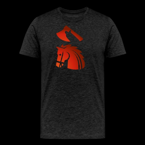 red horse with an axe above – Starykon-Kasprzyk - T-shirt Premium Homme