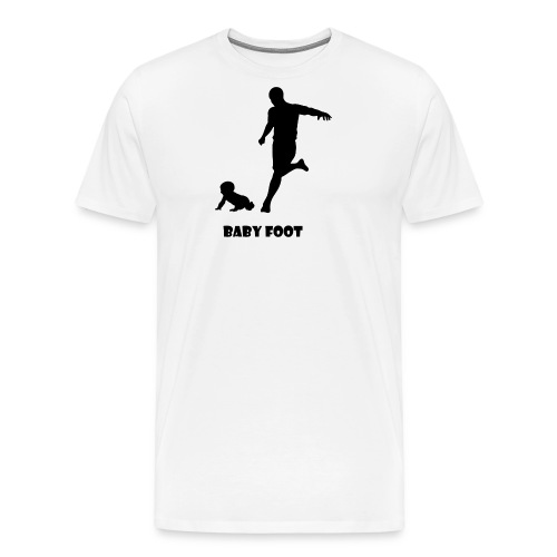 baby foot noir png - T-shirt Premium Homme