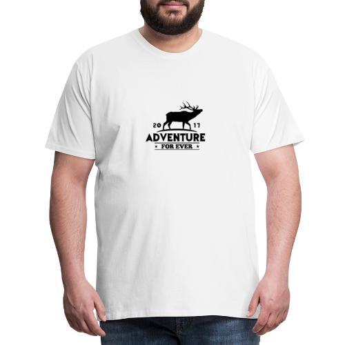ADVENTURE FOR EVER - CERVO - Maglietta Premium da uomo